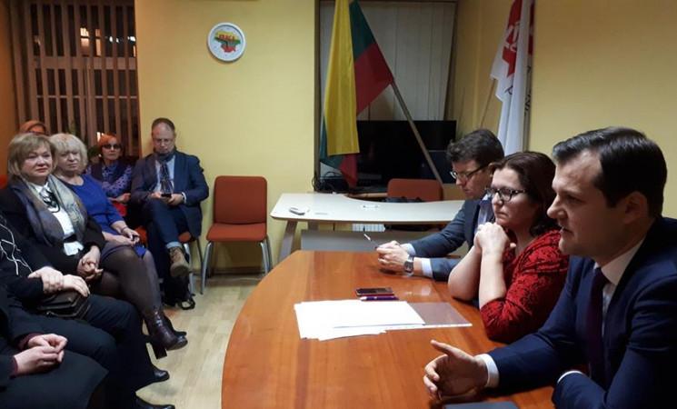 Vilniaus socialdemokratai susitiko su partijos pirmininku