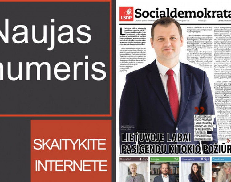 """Jau galima skaityti naują """"Socialdemokratą"""""""