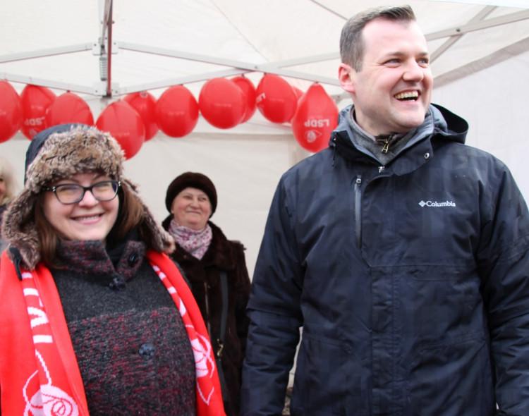 Kaziuko mugėje socialdemokratai suko laimės ratą