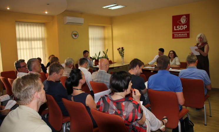 Vilniaus socialdemokratai iškėlė kandidatus