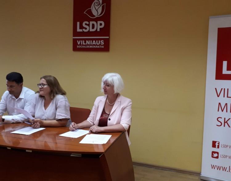 Vilniaus socialdemokratų prezidiumas: papildė kandidatų sąrašus, vyks reitingavimas