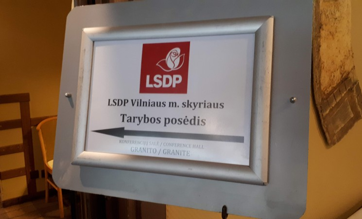 Vilniaus socialdemokratų taryba:  konferencijai bus teikiamos  mero kandidatūros, pristatyta programa
