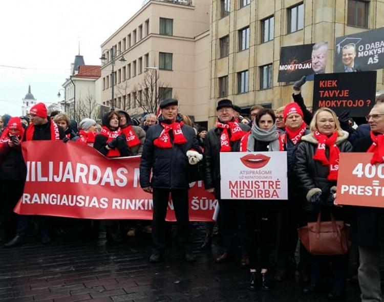 Vilniaus socialdemokratai įsijungė į protesto akciją