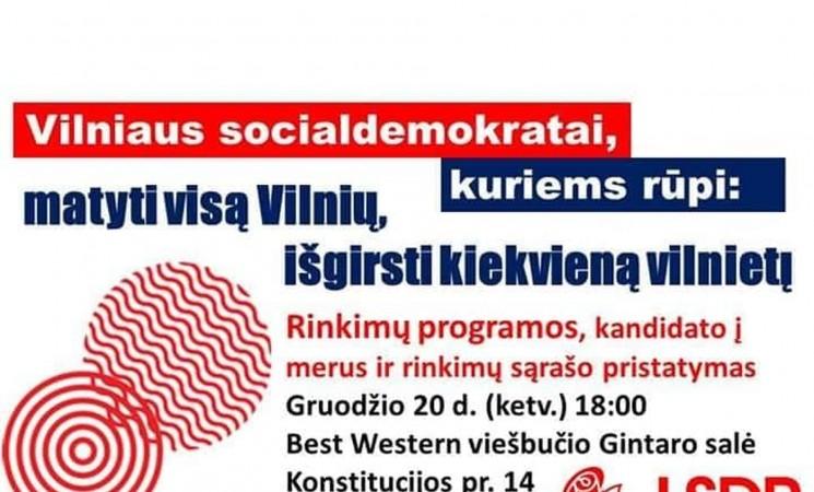 Kviečiame į rinkimų programos ir  kandidatų į savivaldybės tarybą sąrašo pristatymą