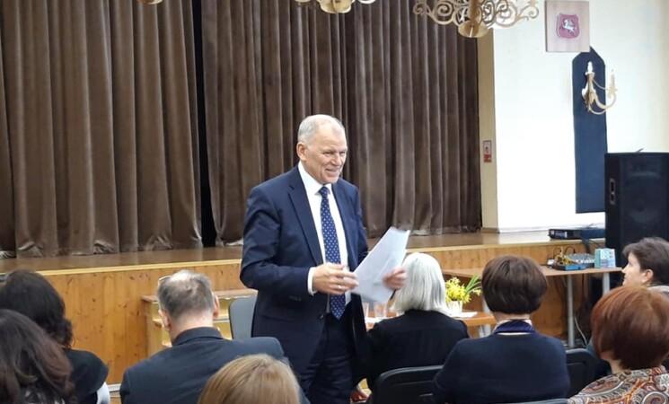 Kandidatas į prezidentus Vytenis Andriukaitis susitiko su vilniečiais