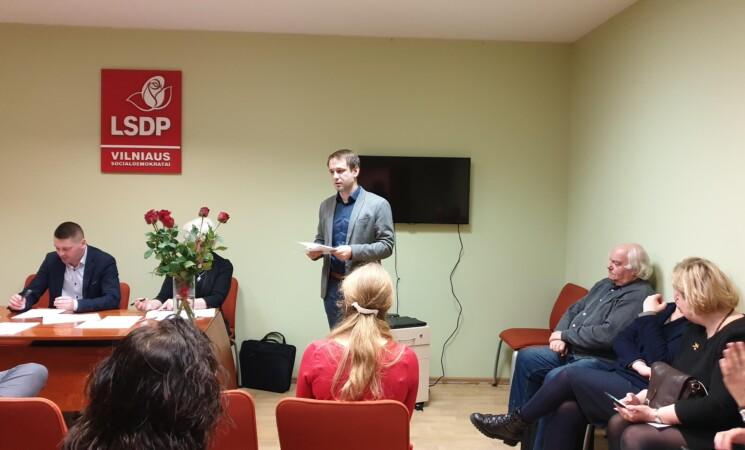 Vilniaus socialdemokratai formuoja aktyvo rezervą
