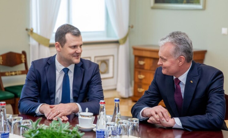 G.Paluckas susitiko su G. Nausėda: radome daug bendrų tikslų