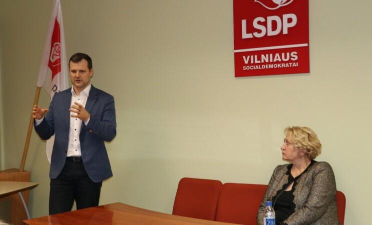 Vilniaus socialdemokratų ir partijos vadovų susitikime – apie susitikimą su prezidentu ir ambicijas laimėti