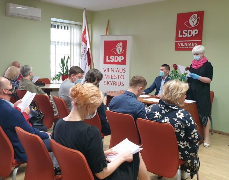 Karantinui švelnėjant Vilniaus socialdemokratai susirinko į Prezidiumo posėdį