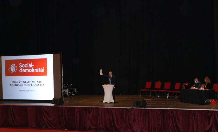 Vilniaus ataskaitinėje rinkiminėje konferencijoje dalyvauja 110 delegatų