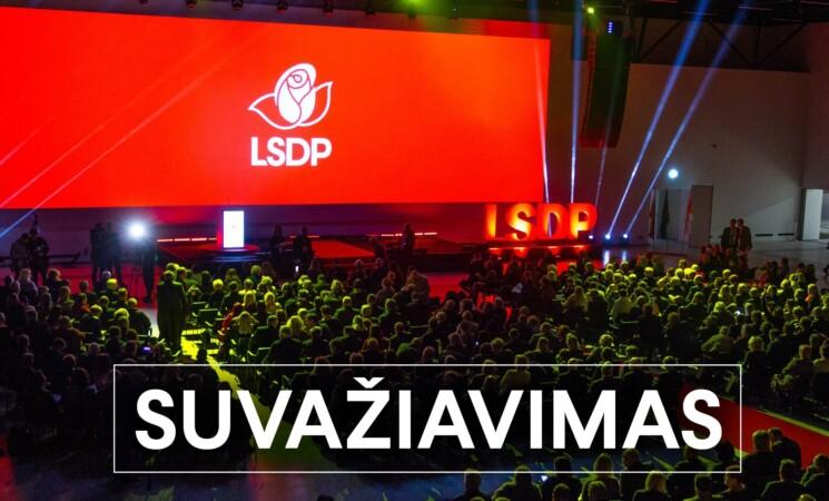 Vilniaus miesto skyrių LSDP suvažiavime atstovaus 47 delegatai